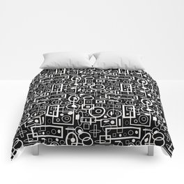 Rectangles and Elipses in BnW (2018) Comforters
