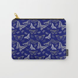 Blue Butterfly Pattern Carry-All Pouch