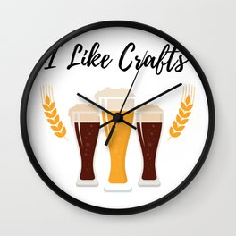 Craft Drinking Beer Funny Beer Lovers Gifts Wall Clock
