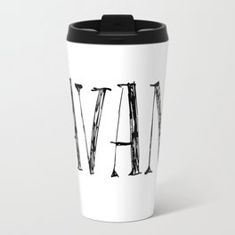 Savant - black on white version Travel Mug