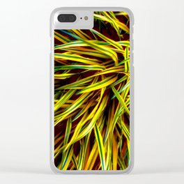YELLOW GRASS Clear iPhone Case