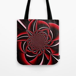 black and red abstract Tote Bag