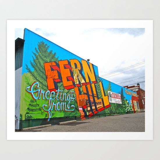 Welcome to Fern Hill Art Print