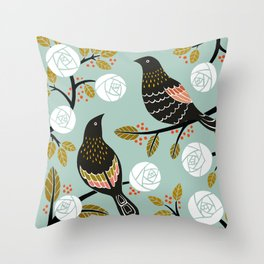 Winterbirds Throw Pillow