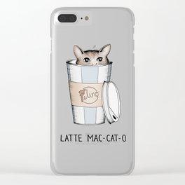 Latte Mac-cat-o Clear iPhone Case