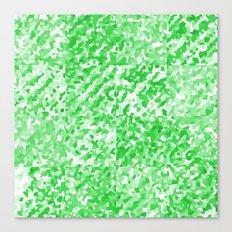 Green Delight (Squares) Canvas Print