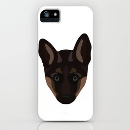 German Shepard Puppy Decal iPhone Case