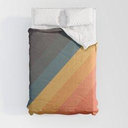 Retro 70s Vintage Style Stripes - Danina Comforters