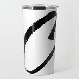 Letter C Ink Monogram Travel Mug