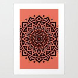 Coral Doily Art Print