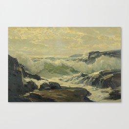 Frederick Judd Waugh 1861 - 1940 COAST OF MAINE Canvas Print