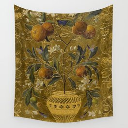 1880 Classical Masterpiece 'The Orange Tree' by William Jabez Muckley Wall Tapestry