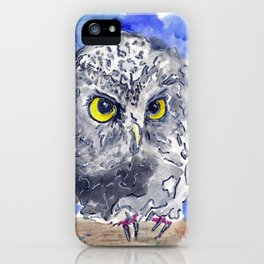 Watching (really watching) iPhone Case