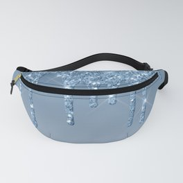 Blue Dripping Glitter Fanny Pack