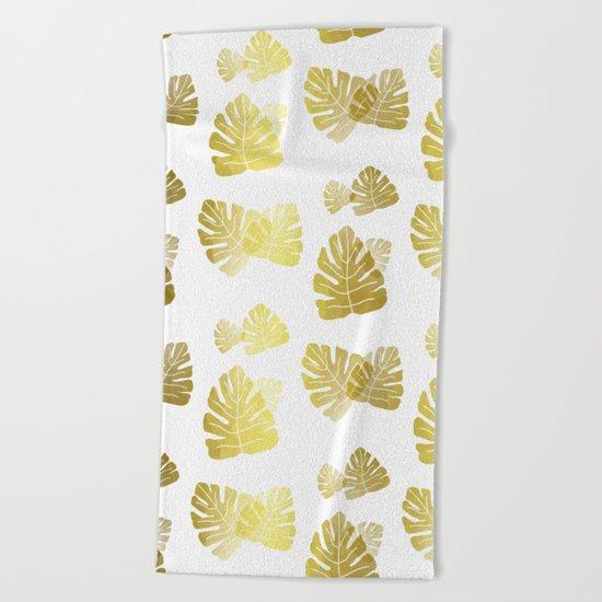 Golden Tropics Beach Towel