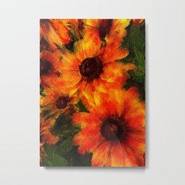 Orange Coneflowers Metal Print