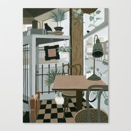 View from the Cafe Canvas Print