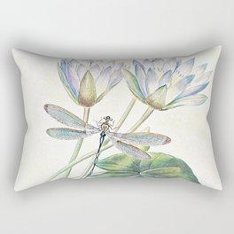 lotus and dragonfly Rectangular Pillow