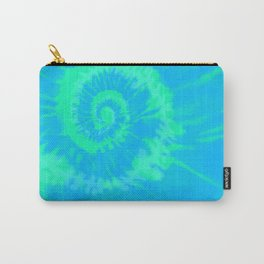 Tie dye neon blue Carry-All Pouch