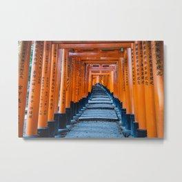 Fushimi Inari-taisha in Kyoto, Japan Metal Print