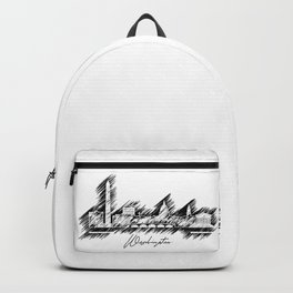 Washington graphic scribble skyline Backpack