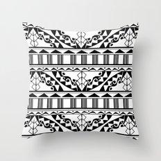 Polynesian Tribal Throw Pillow