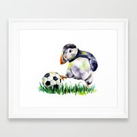 football Framed Art Prints featuring Football by Anna Shell
