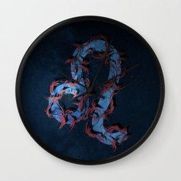 Leo Zodiac Sign. Abstract night sky. Wall Clock