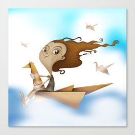Origami Flying Canvas Print