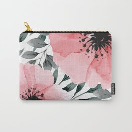 Big Watercolor Flowers Carry-All Pouch