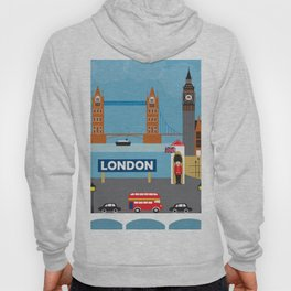 London, England - Collage Illustration by Loose Petals Hoody