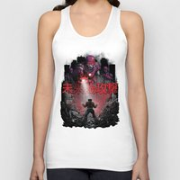 attack on titan Tank Tops featuring Attack On The Future by Six Eyed Monster