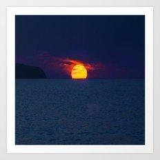 Moonlight on the Ocean Art Print