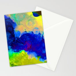 Expression in Blue Stationery Cards