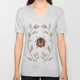 The Ladybug and Sweet Pea Unisex V-Neck