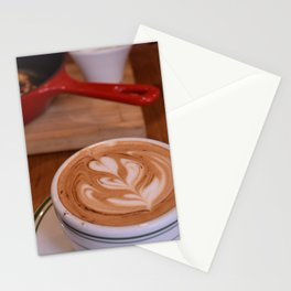 Caffe Macchiato with Breakfast - Cafe or Kitchen Decor Stationery Cards