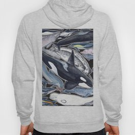 Dolphin, orca, beluga, narwhal & cie Hoody
