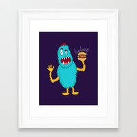 hamburger Framed Art Prints featuring Hamburger! by Chelsea Herrick