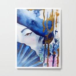 blue geisha Metal Print