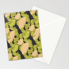 Trailing Hair and Fan // Fall Colourway Stationery Cards