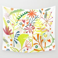 tropical Wall Tapestries featuring Tropical by Nic Squirrell