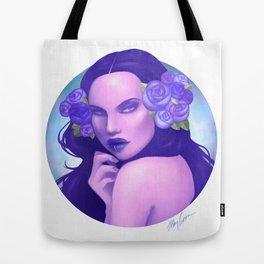 Blue Rose Queen Tote Bag