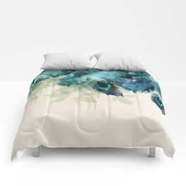Beautiful Peacock Feathers Comforters