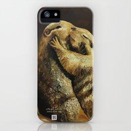 El beso de los perritos de la pradera iPhone Case