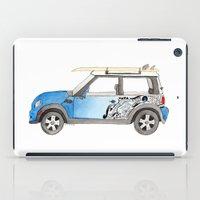 mini cooper iPad Cases featuring Magnificent Mini Cooper by Fuzzy Art