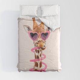 THIRSTY GIRAFFE Comforters