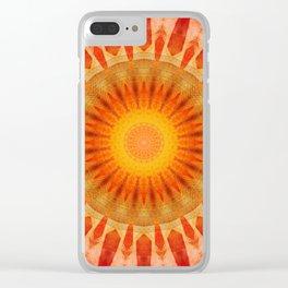 Mandala sunset Clear iPhone Case