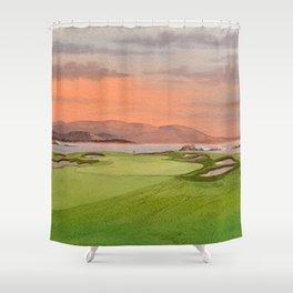 Pebble Beach Golf Course Hole 17 Shower Curtain