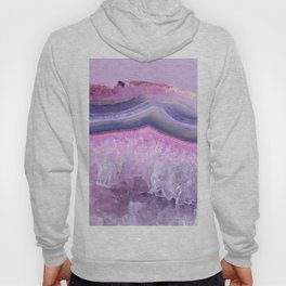 Ultraviolet and Pink Agate Hoody