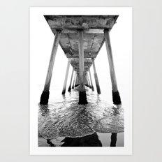 Hermosa Beach Pier Art Print